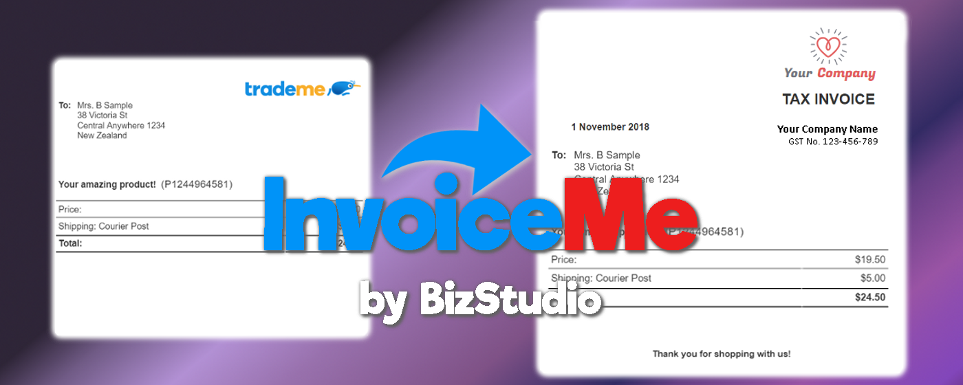 Trademe Invoices made easy by InvoiceMe